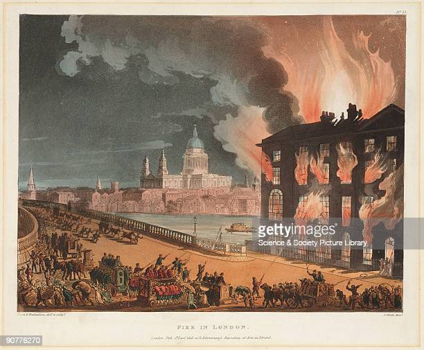 Lithograph drawn by Thomas Rowlandson and Augustus Pugin for the famous three volume work 'The Microcosm of London' published by Rudolph Ackermann in...