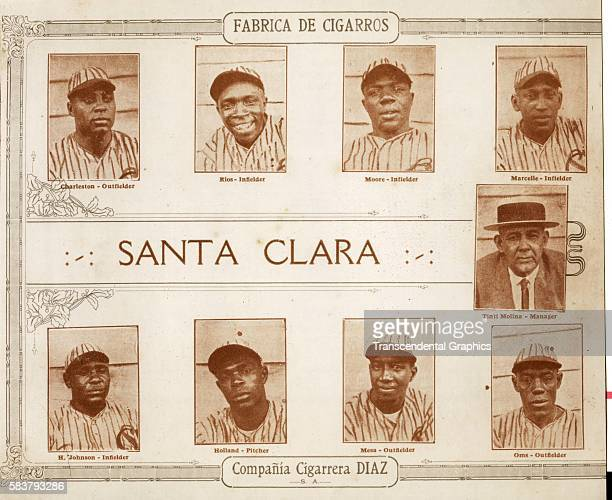 Lithograph features the Habana baseball team, Havana, Cuba, 1923. Among those pictured are Oscar Charleston, Dobie Moore, Marcelle, Rios, Alejandro...