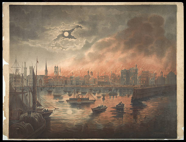 IL: 8th October 1871 - Great Chicago Fire begins