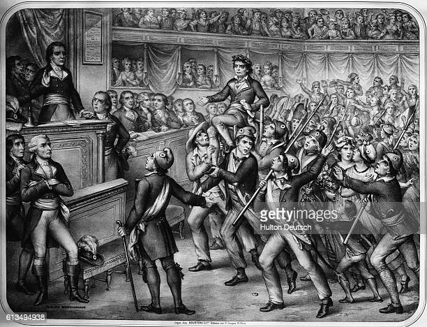 A lithograph on the subject of the French Revolution entitled The Triumph of Montagnards