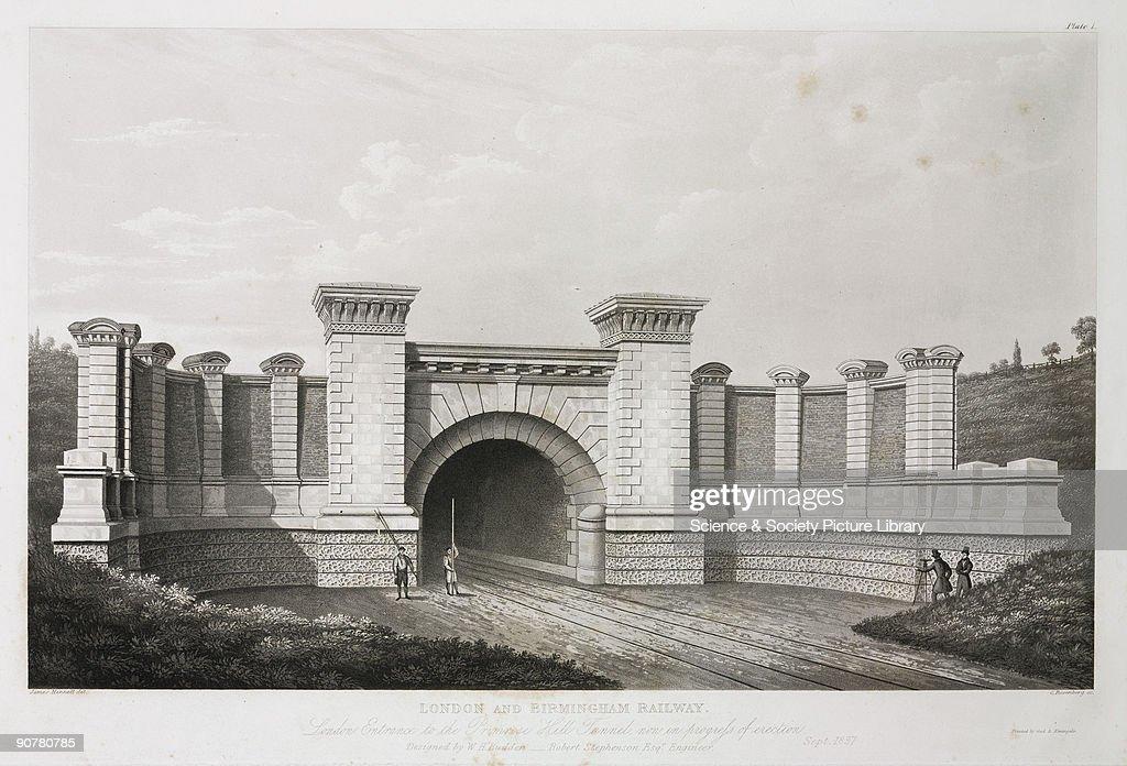 The London entrance to the Primrose Hill tunnel, 19th century. : Nachrichtenfoto