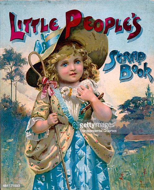 A lithographic book cover by McLoughlin publshers features Bo Peep and is printed in New York City around 1890