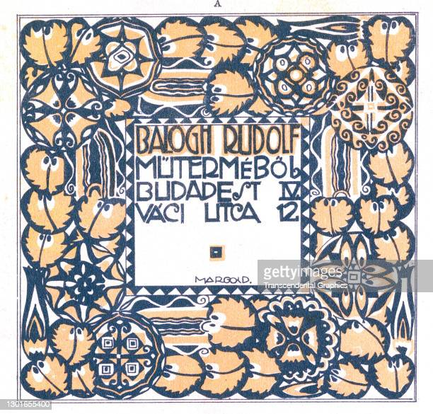 Lithographic plate features a border design around the address of the Balogh Rudolf photo studio, 1928. It appeared in a 'to-the-trade' periodical,...