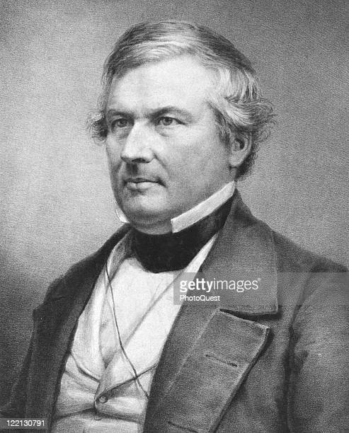 Lithographic portrait of Millard Fillmore the thirteenth president of the United States mid nineteenth century