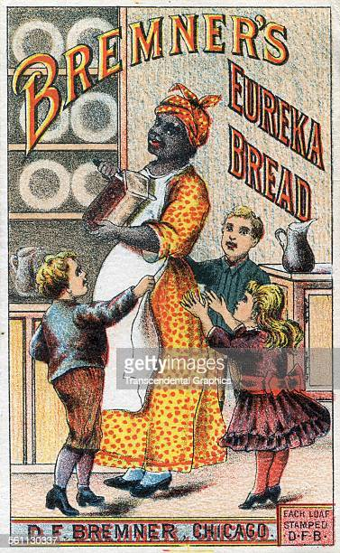 A lithographic Victorian trade card promoting Bremer's Eureka Bread Chicago Illinois