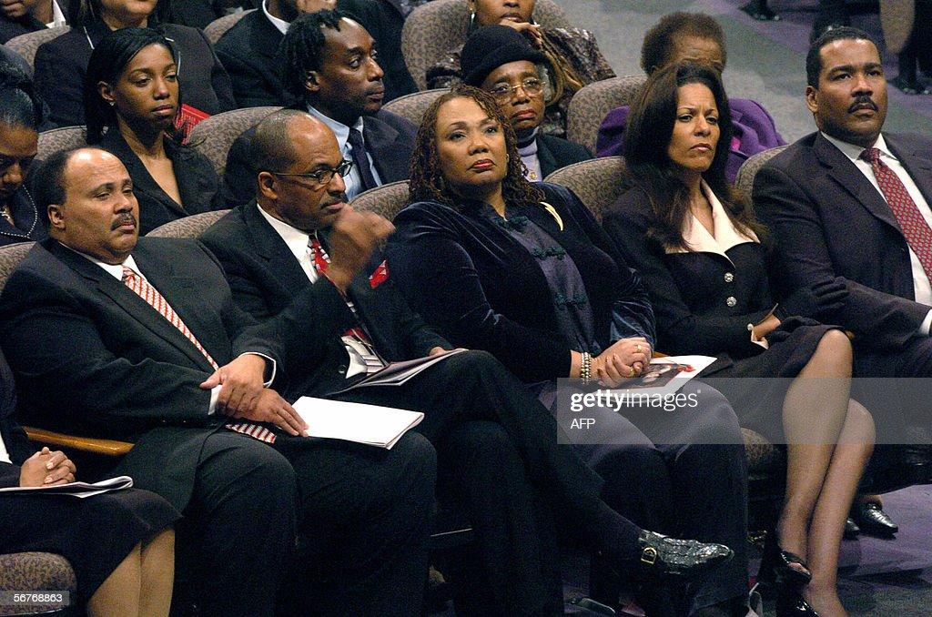 King family members Martin Luther King III and Yolanda ...