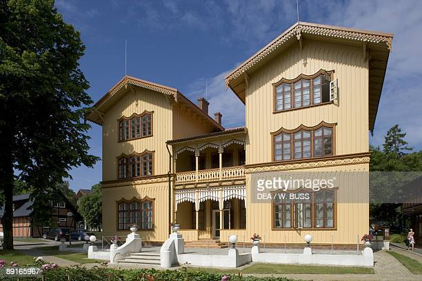 Lithuania Klaipeda County Curonian Spit Juodkrante traditional house