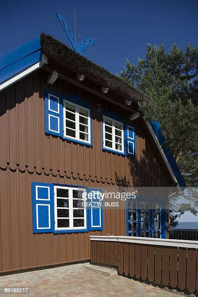 Lithuania Klaipeda County Curonian Spit Nida thatched cottage