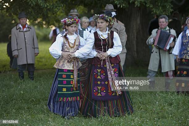 Lithuania Vilnius County Kernave Midsummer's day celebration