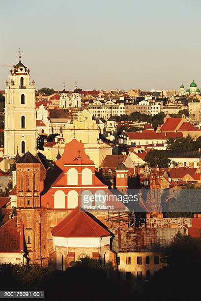 lithuania, vilnius, elevated view - peter adams stock pictures, royalty-free photos & images