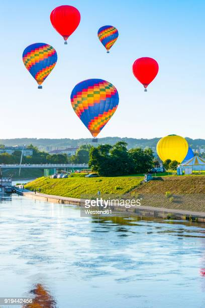 Lithuania, Vilnius, hot air ballooning