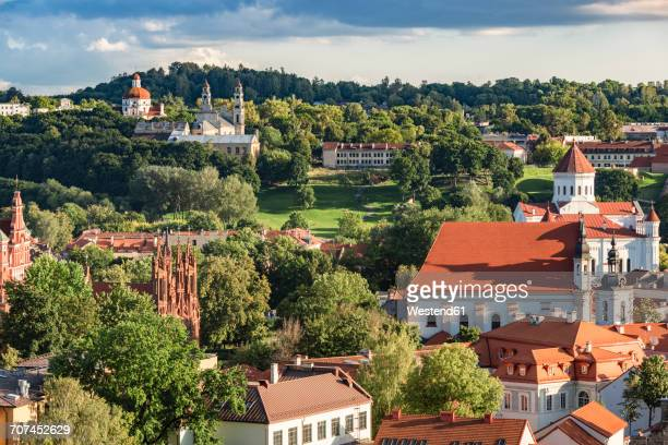Lithuania, Vilnius, view to the old town from Gediminas Tower