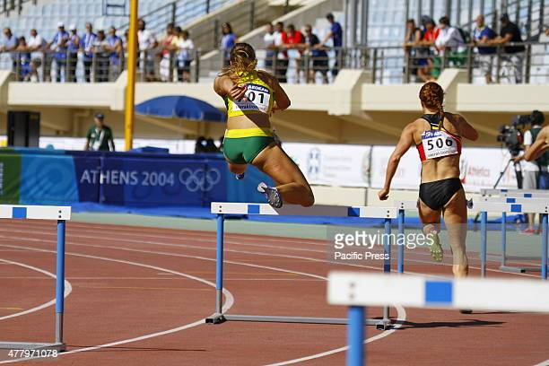 STADIUM HERAKLION ATTICA GREECE Lithuanian 400 metres hurdles runner Egle Staisiunaite is pictured in action at the second heat at the 2015 European...