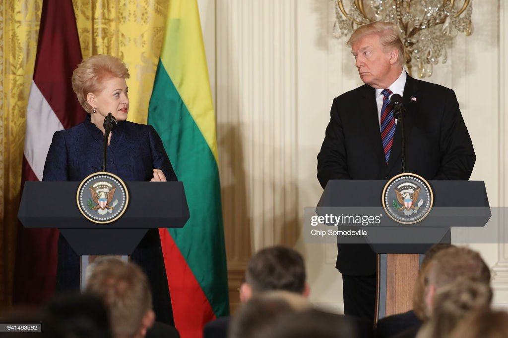 Trump Holds Joint Press Conf. With Estonian, Latvian And Lithuanian Leaders