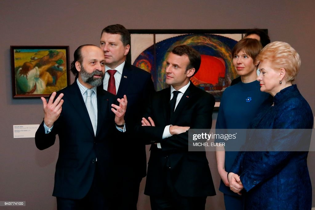 FRANCE-LITHUANIA-ESTONIA-LATVIA-DIPLOMACY : Photo d'actualité