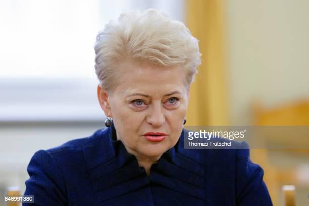 Lithuanian President Dalia Grybauskaite on March 02 2017 in Vilnius Lithuania