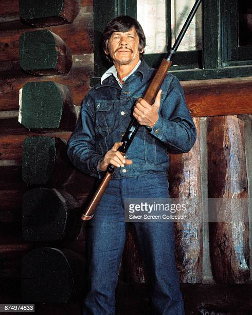 Lithuanianborn actor Charles Bronson as Vince Majestyk in the action film 'Mr Majestyk' 1974
