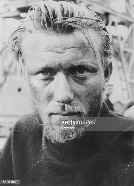 Lithuanianborn actor Laurence Harvey during the filming of 'The Silent Enemy' October 1957