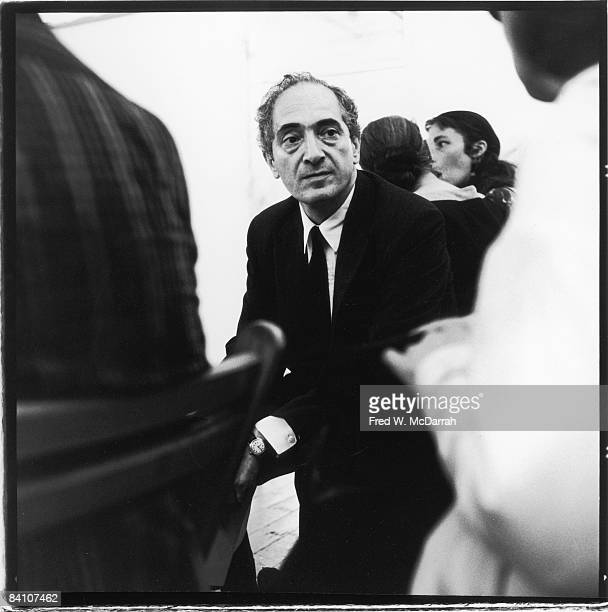 Lithuanianborn American art critic historian and professor Meyer Schapiro sits among others at an unidentified event New York New York 1950s