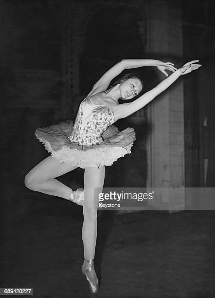 Lithuanianborn British ballerina Svetlana Beriosova performing in London at the age of fifteen UK 27th November 1947