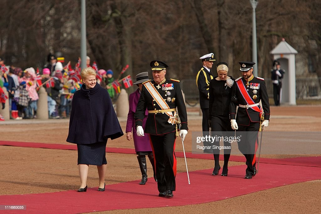 Norwegian Royals Host State Visit From Lithuania - Day 1