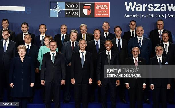 Lithuania's President Dalia Grybauskaite Polish President Andrzej Duda NATO Secretary General Jens Stoltenberg US President Barack Obama...