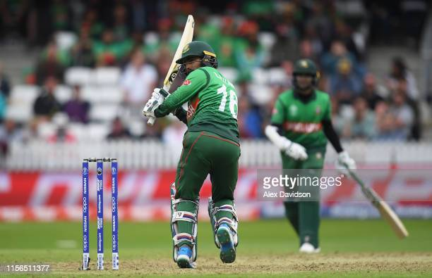 Liton Das of Bangladesh bats during the Group Stage match of the ICC Cricket World Cup 2019 between West Indies and Bangladesh at The County Ground...