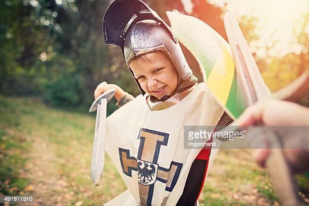 Litte knight Spaß fighting