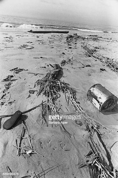Litter on Rockaway Beach on the Rockaway Peninsula in Queens New York City 23rd June 1978