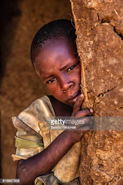 Little African girl from Maasai tribe, Kenya, Africa