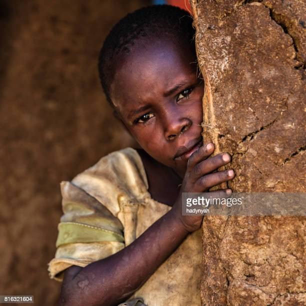 little african girl from maasai tribe, kenya, africa - native african girls stock pictures, royalty-free photos & images