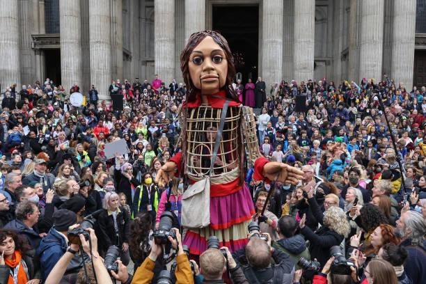 GBR: Little Amal Puppet Tours London