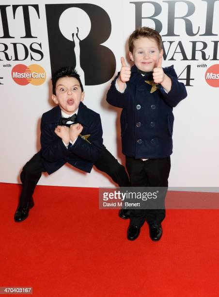 Little Ant and Little Dec attend The BRIT Awards 2014 at the 02 Arena on February 19 2014 in London England