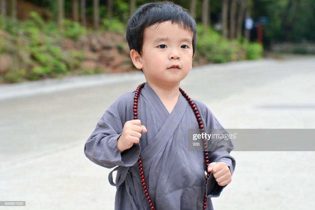 kleinen Lehrling Mönch : Stock-Foto