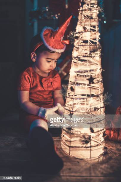 Little Baby Girl Is Making a Christmas Wish