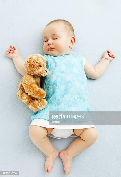 Little Baby Girl Sleeping, Napping