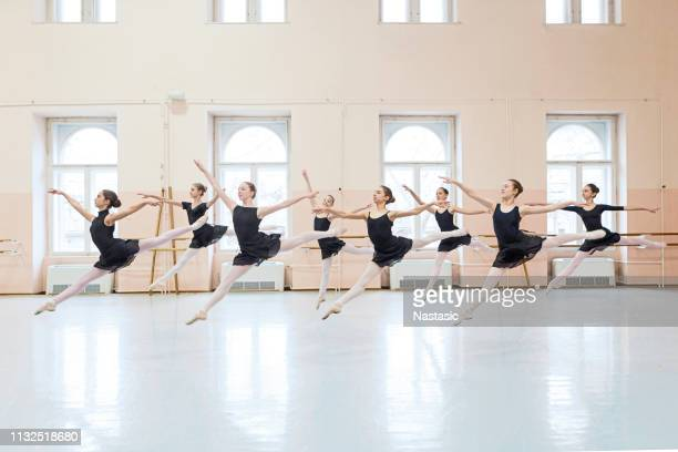 little ballerinas performing - ballet dancing stock pictures, royalty-free photos & images