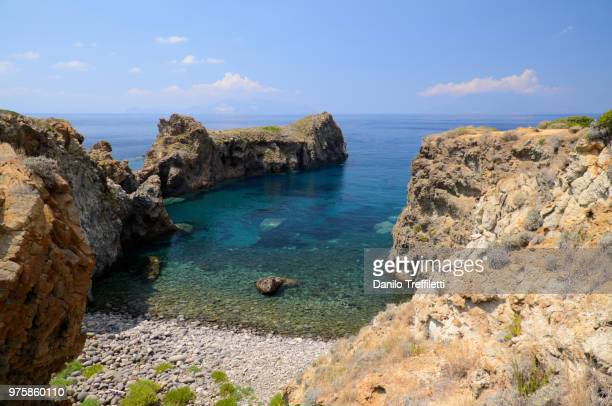 little bay, panarea, aeolian island, sicily, italy - aeolian islands stock pictures, royalty-free photos & images