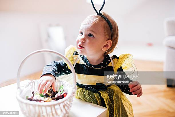 Little bee is ready for the Halloween