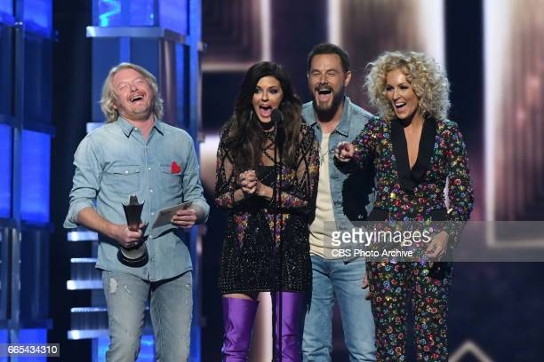 Little Big Town accept an award on stage during THE 52ND ACADEMY OF COUNTRY MUSIC AWARDS scheduled to air LIVE from TMobile Arena in Las Vegas Sunday...