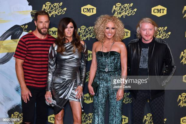 Little Big Town arrives at the 2018 CMT Music Awards at Bridgestone Arena on June 6 2018 in Nashville Tennessee