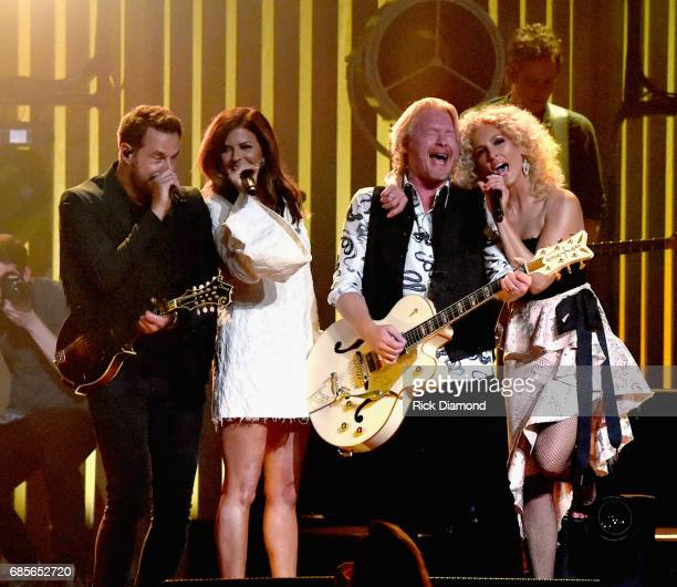 Little Big Town At The Mother Church Jimi Westbrook Karen Fairchild Phillip Sweet and Kimberly Schlapman perform at the Ryman Auditorium on May 19...
