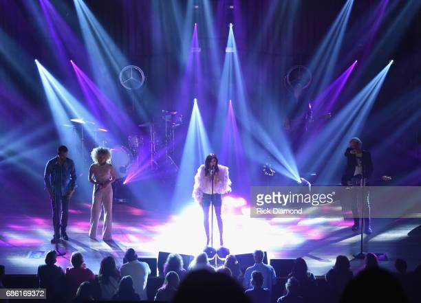Little Big Town At The Mother Church Jimi Westbrook Kimberly Schlapman Karen Fairchild and Phillip Sweet perform at the Ryman Auditorium on May 20...