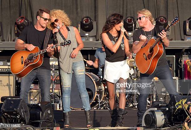 Little Big Town performs at Country Thunder Twin Lakes Wisconsin Day 2 on July 19 2013 in Twin Lakes Wisconsin