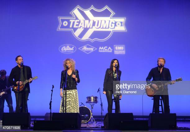 Little Big Town performs during Team UMG at The Ryman which is part of CRS 2014 on February 19 2014 at the Ryman Auditorium in Nashville Tennessee