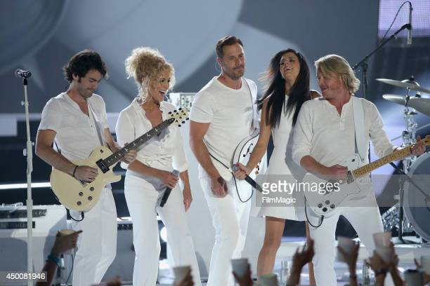 Little Big Town performs during the 2014 CMT Music awards at the Bridgestone Arena on June 4 2014 in Nashville Tennessee