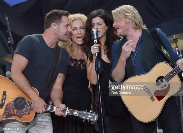 Little Big Town performs during the First Annual Florida Country Superfest Day 1 at EverBank Field on June 14 2014 in Jacksonville Florida