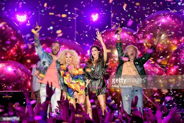 Little Big Town performs onstage at the 2018 CMT Music Awards at Bridgestone Arena on June 6 2018 in Nashville Tennessee