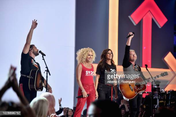 Little Big Town performs onstage at the sixth biennial Stand Up To Cancer telecast at the Barkar Hangar on Friday September 7 2018 in Santa Monica...