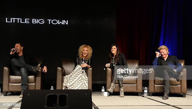 Little Big Town talk on Presevarance during the 2014 CRS confrence on February 19 2014 at the Nashville Convention Center in Nashville Tennessee